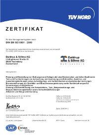 Zertifikat DIN-EN-ISO-9001