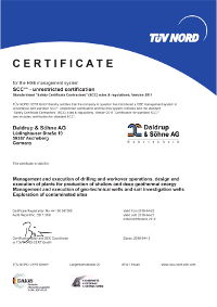 Zertifikat SCC